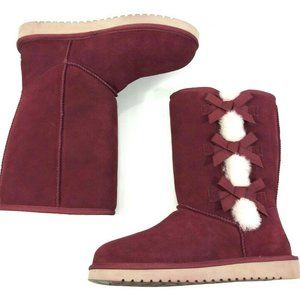 Koolaburra by UGG Suede Boot W/ Bow Victoria Tall